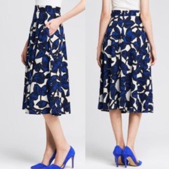 c677ee41ae Banana Republic Dresses & Skirts - BANANA REPUBLIC FLORAL PONTE MIDI SKIRT